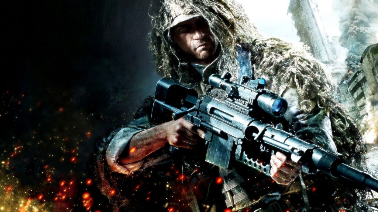 rifles soldiers video games ruins army military snipers buildings sniper rifles special forces wallpaper