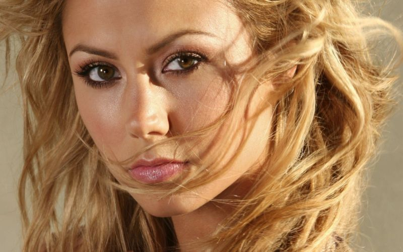 blondes women Stacy Keibler brown eyes faces wallpaper