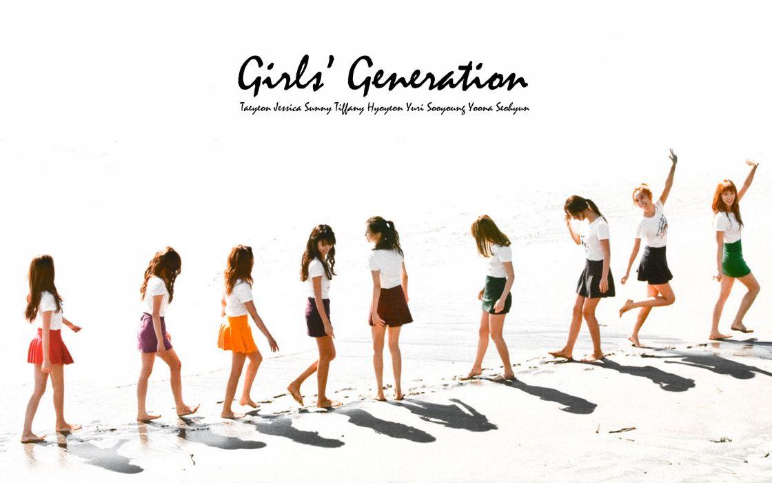 women Girls Generation SNSD celebrity footprint wallpaper
