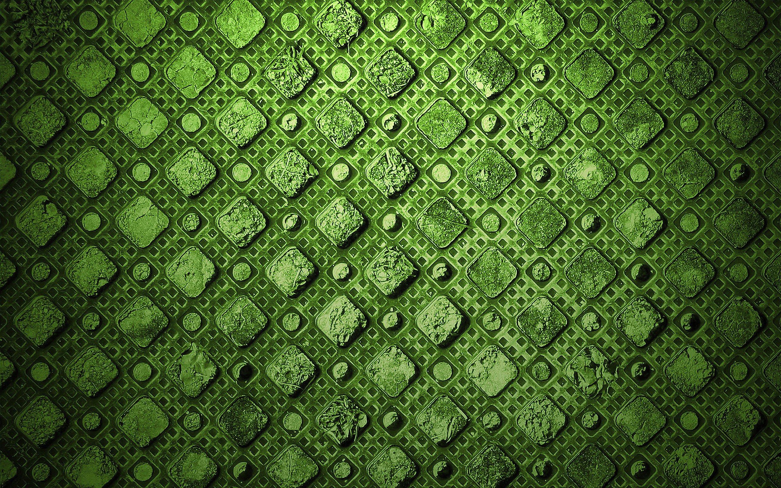 Green Abstract Textures Diamonds Wallpaper