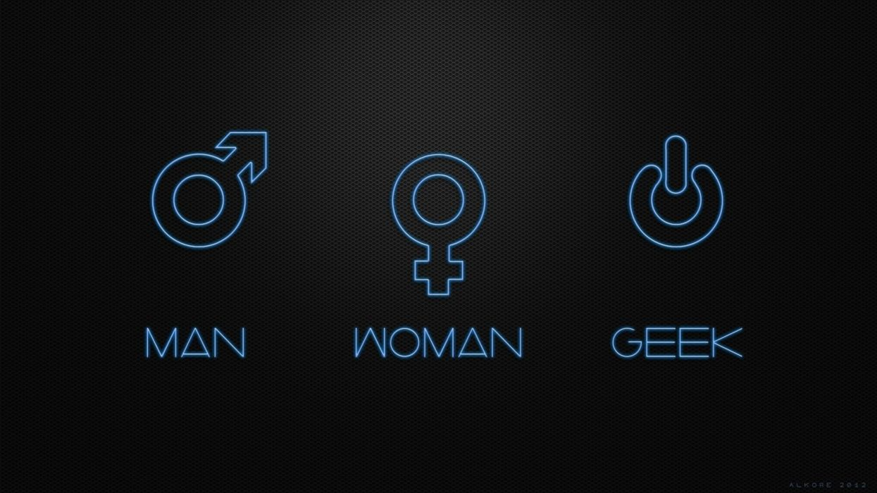 women geek men funny digital art wallpaper