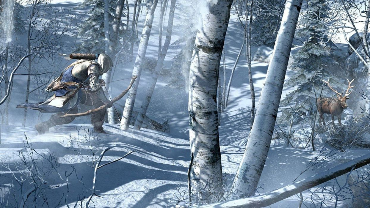 video games winter Assassins Creed 3 wallpaper