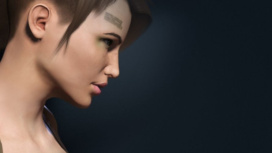 brunettes tattoos women blue eyes EVE Online freckles wallpaper
