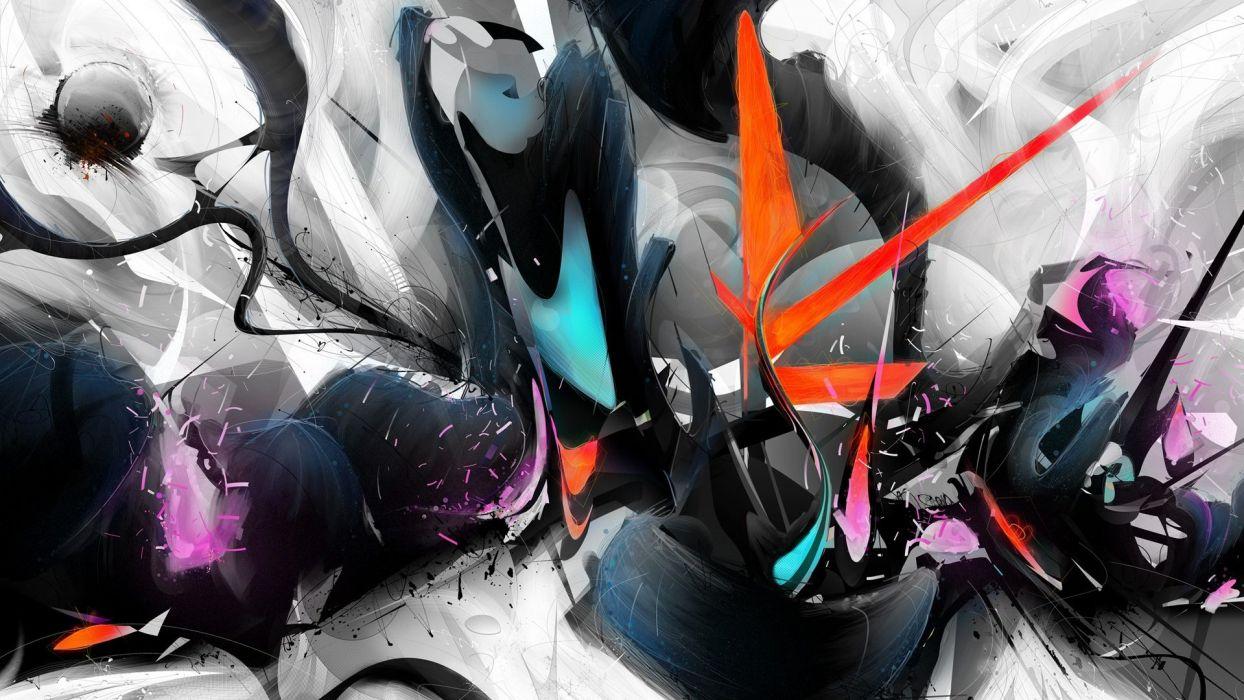 abstract multicolor street art wallpaper