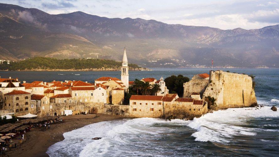 ocean nature Montenegro wallpaper