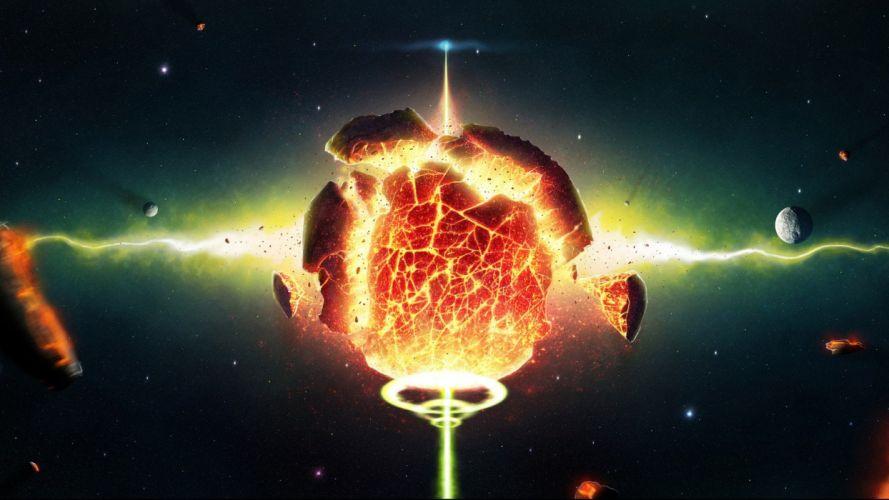 digital art science fiction artwork wallpaper