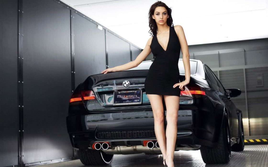 BMW cars black dress wallpaper