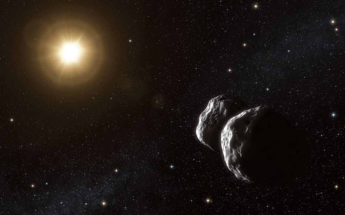 outer space asteroids space wallpaper
