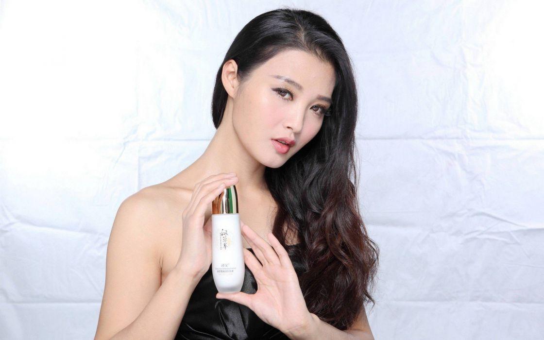 women China models Asians advertisement wallpaper