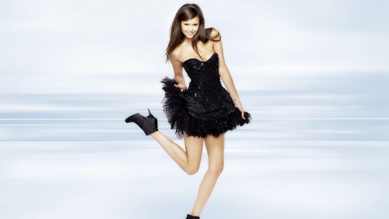 brunettes women celebrity Nina Dobrev TagNotAllowedTooSubjective wallpaper