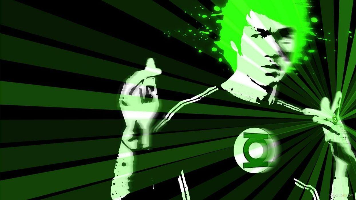 Bruce Lee Green Lantern wallpaper