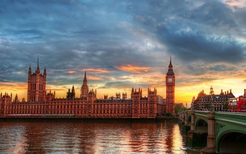 architecture London bridges wallpaper