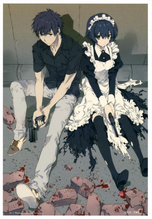 guns maids phantom anime torn clothing maid costumes Phantom: Requiem for the Phantom wallpaper