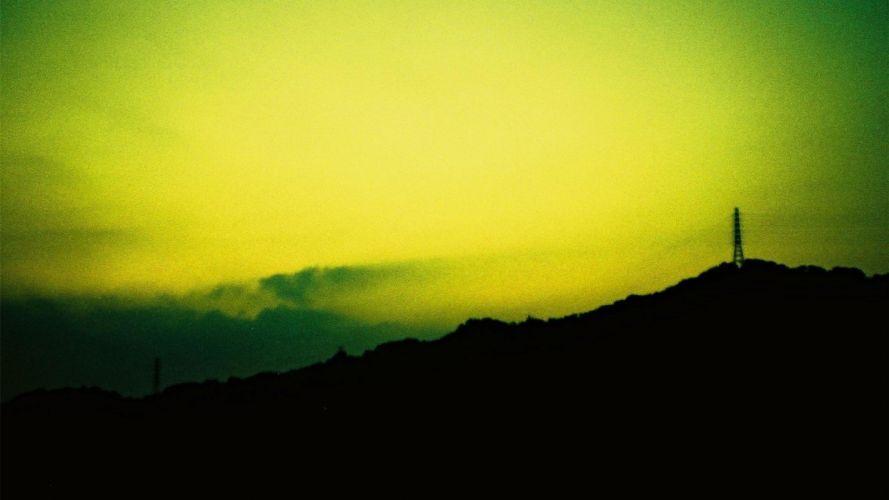 green landscapes yellow lomo wallpaper