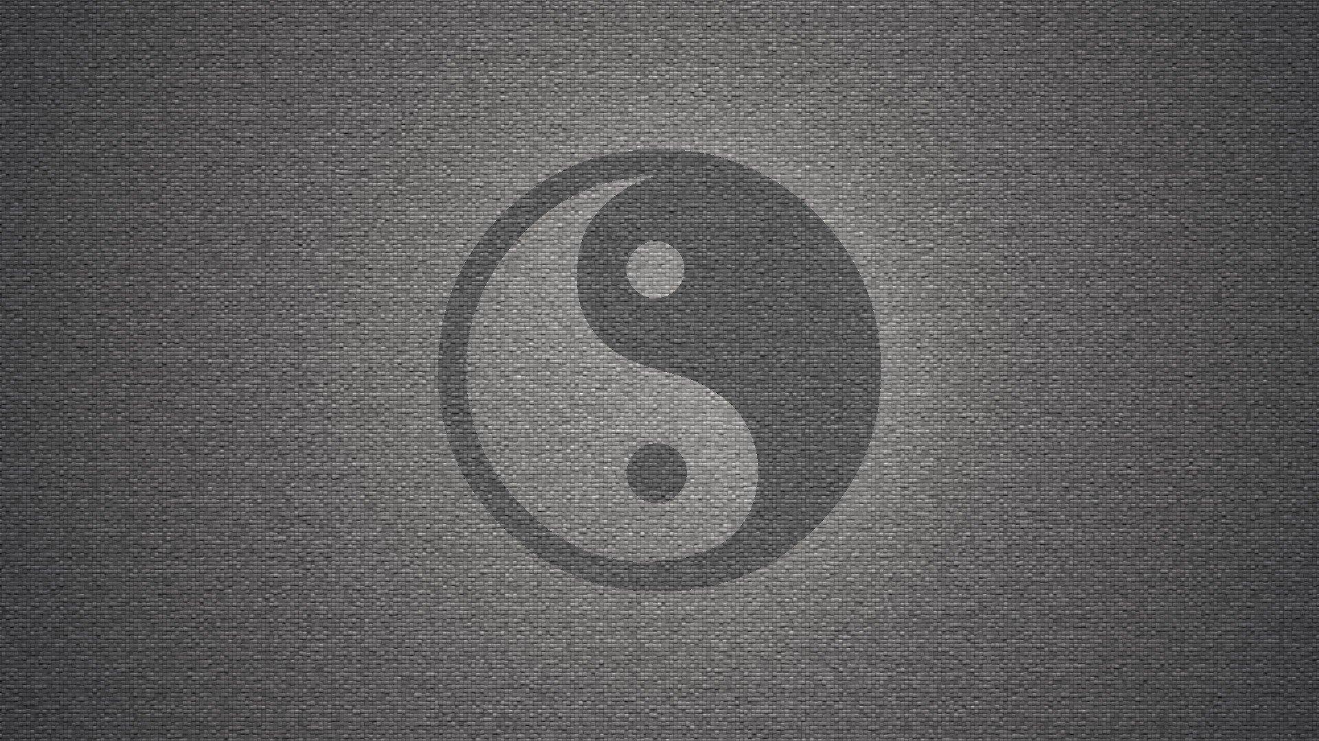 Background image grayscale - Wall Yin Yang Symbol Textures Grayscale Backgrounds Symbols Wallpaper