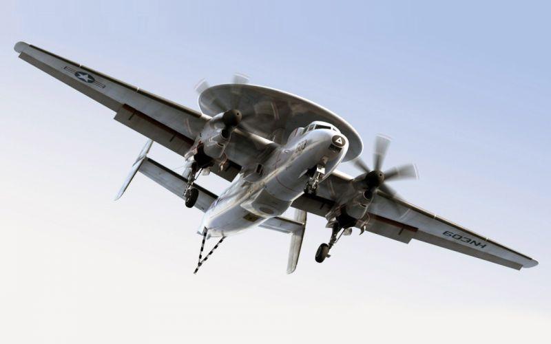 aircraft military aviation E-2C Hawkeye wallpaper