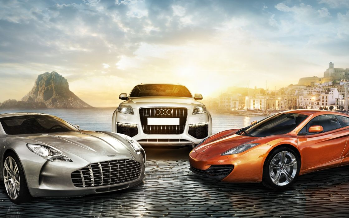 video games cars Aston Martin One-77 Audi Q7 Test Drive Unlimited McLaren MP4-12C pc games wallpaper