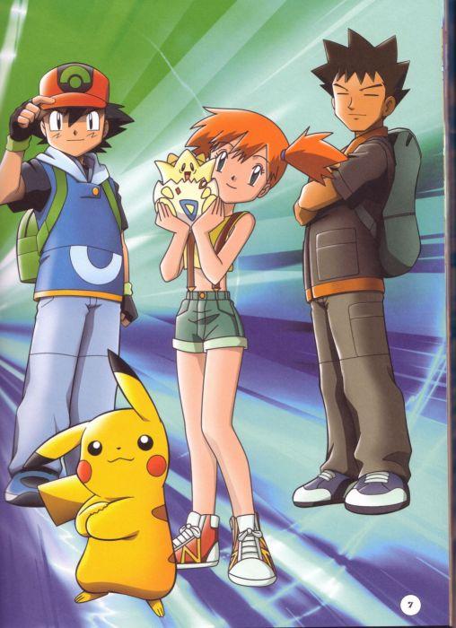 Pokemon Pikachu Misty (Pokemon) Ash Ketchum Togepi wallpaper