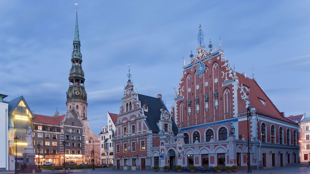 cityscapes architecture Latvia oldtown wallpaper