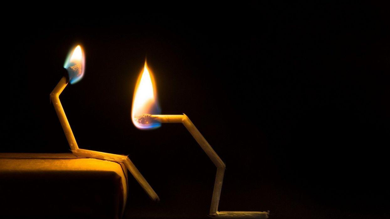 fire fantasy art puzzle matchsticks wallpaper
