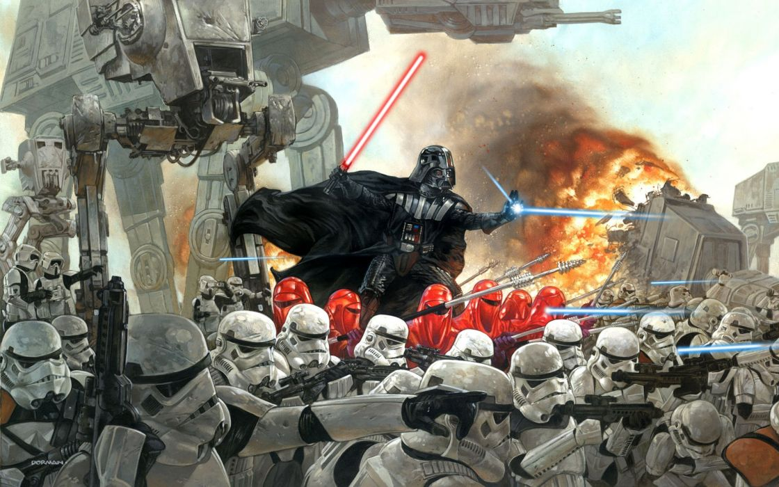 stormtroopers lightsabers Darth Vader wallpaper