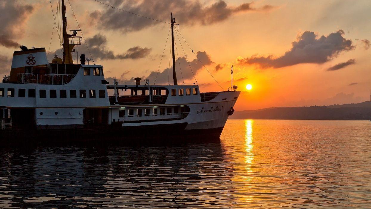 sunset nature cityscapes Turkey Turkish Istanbul cities wallpaper