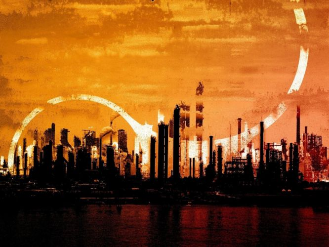 3D view cityscapes wallpaper