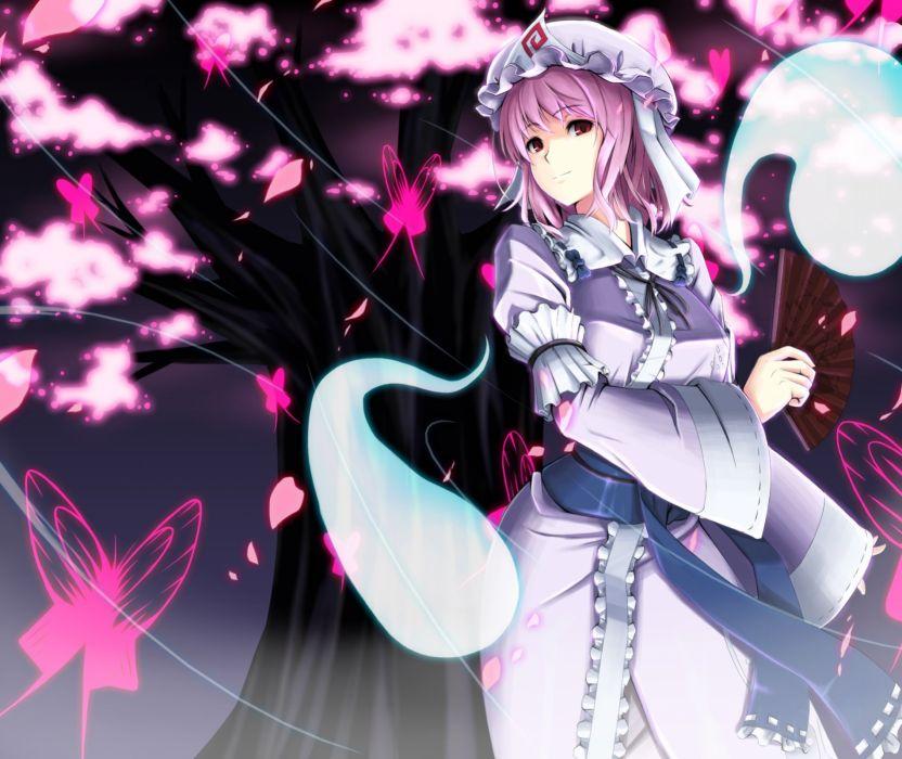 video games Touhou Saigyouji Yuyuko  Japanese clothes wallpaper