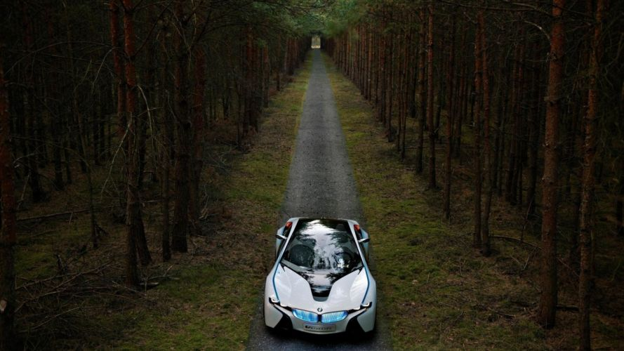 BMW forests roads BMW Vision wallpaper