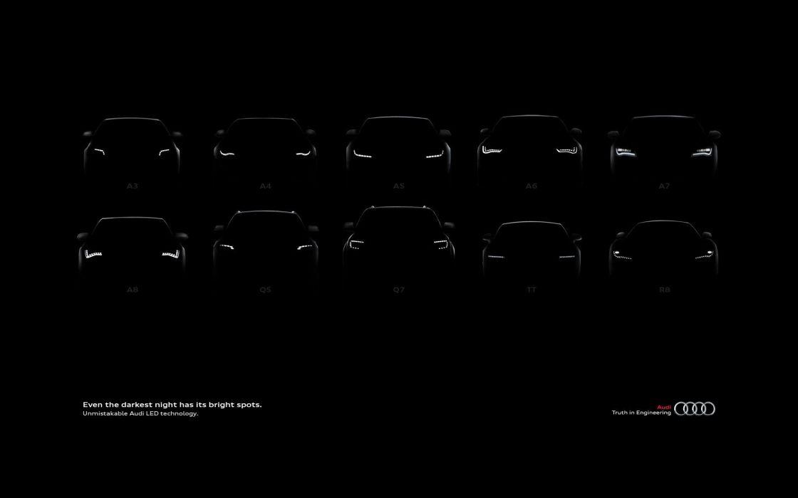 light dark Audi LED wallpaper