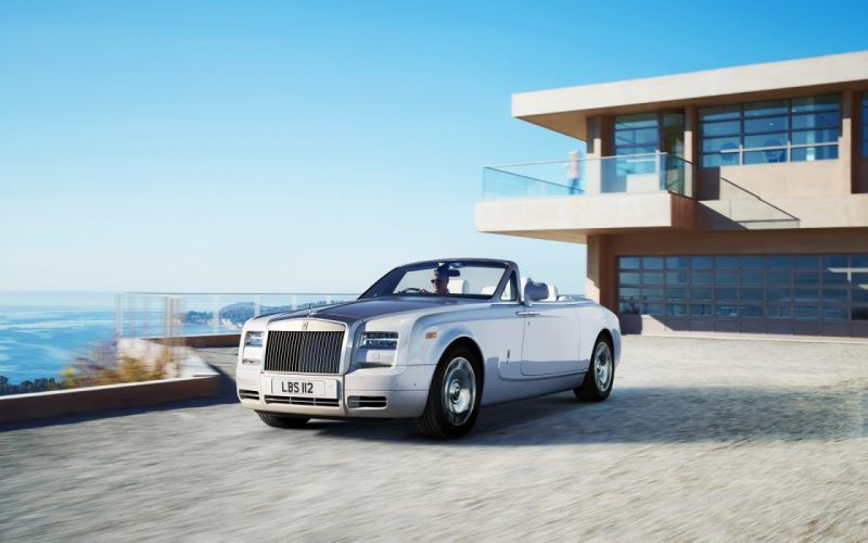 blue nature cars coupe Rolls Royce wallpaper