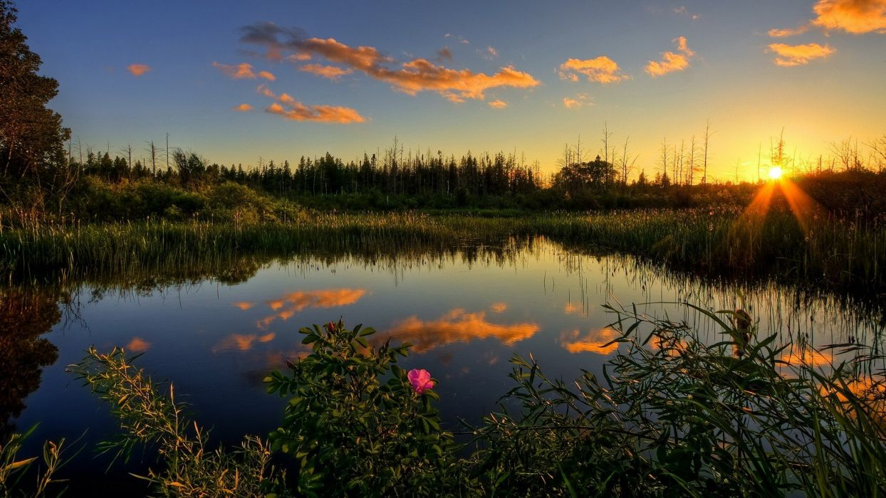 sunset landscapes nature Sun skyscapes land wallpaper