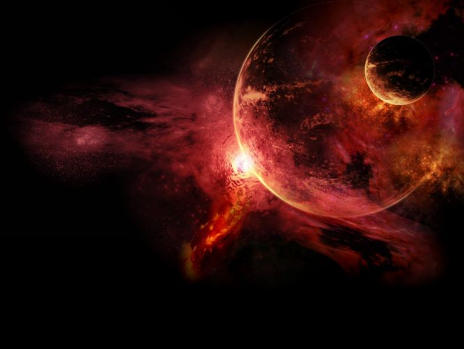 outer space fantasy art wallpaper