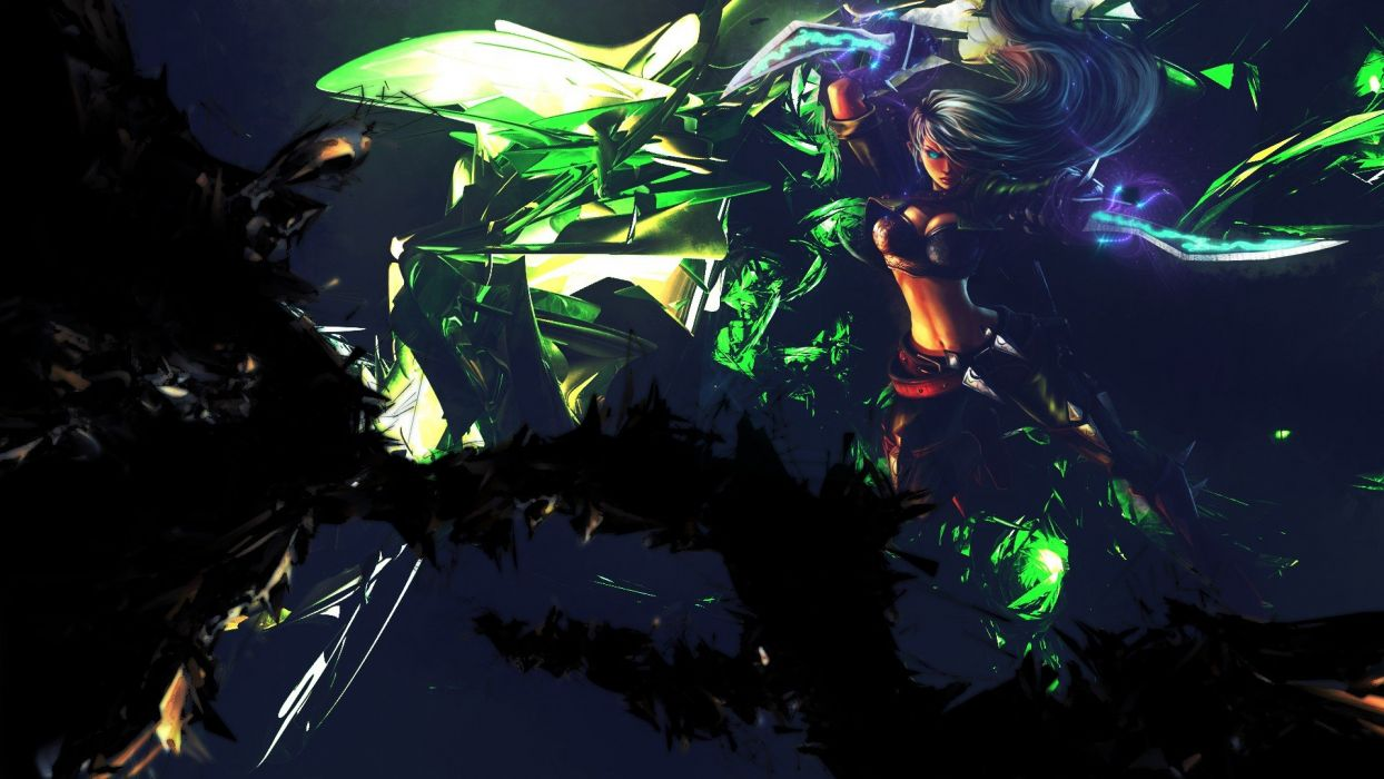 abstract video games League of Legends Mercenary Katarina Game characters wallpaper