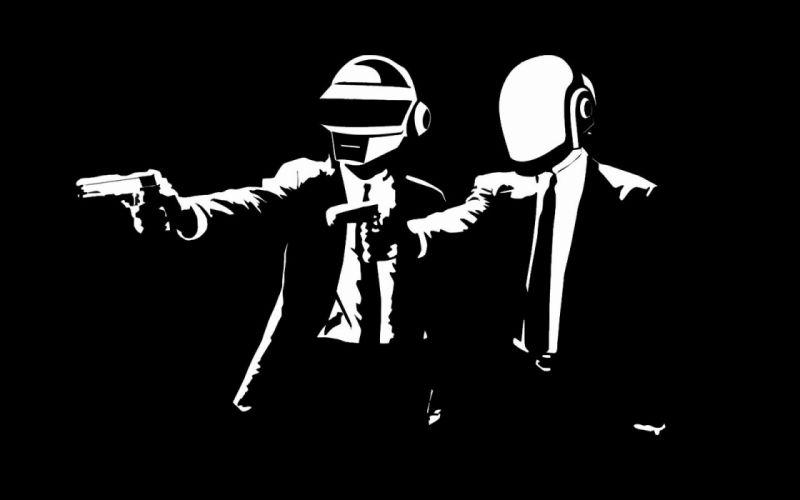 Daft Punk Pulp Fiction black background wallpaper