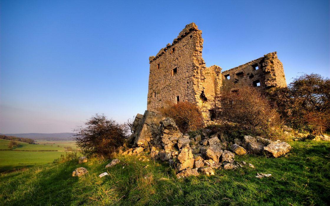 castles ruins wallpaper