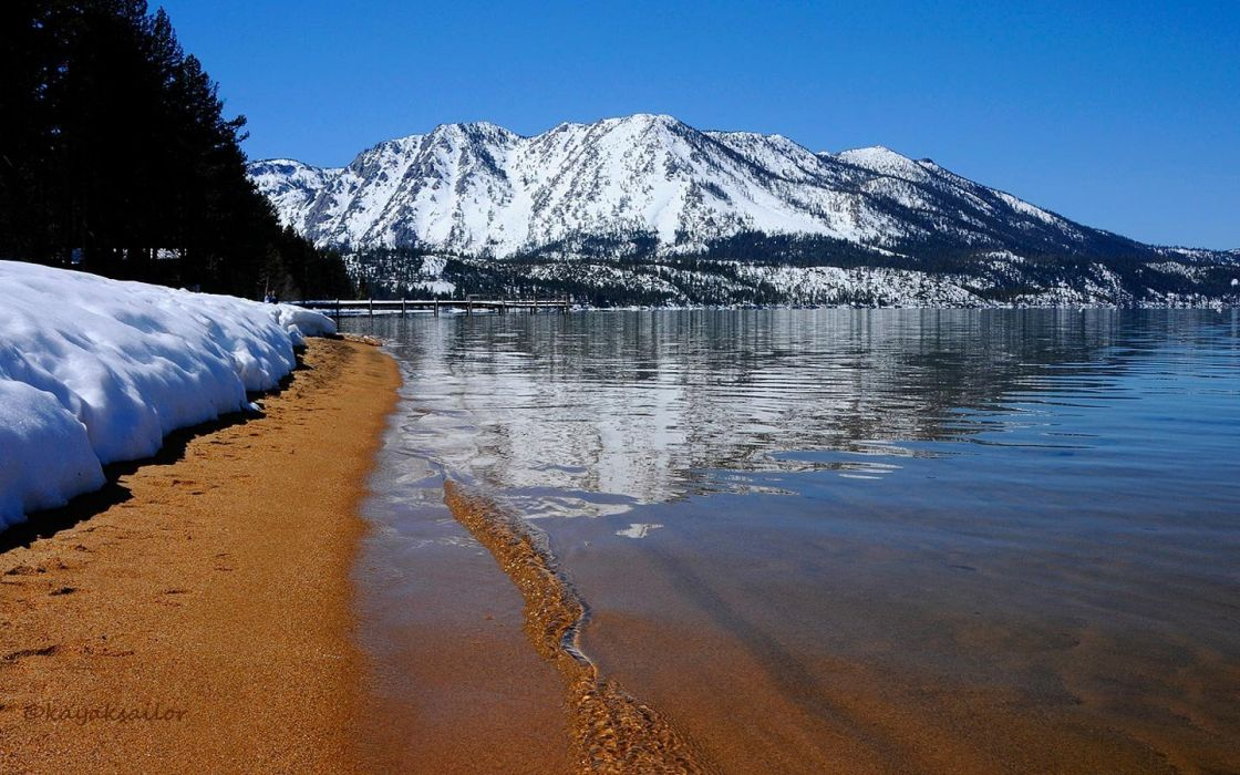 nature Lake Tahoe widescreen beaches wallpaper