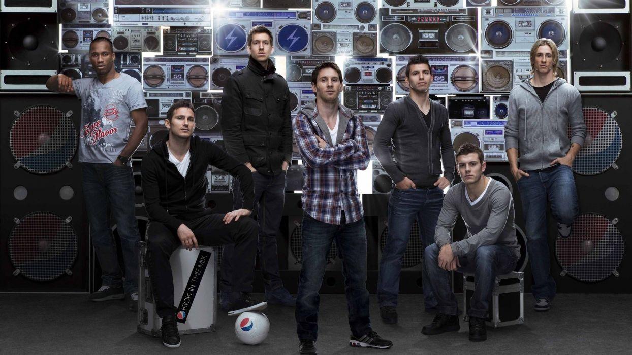 soccer Lionel Messi Fernando Torres Didier Drogba Calvin Harris Wilshere Lampard wallpaper