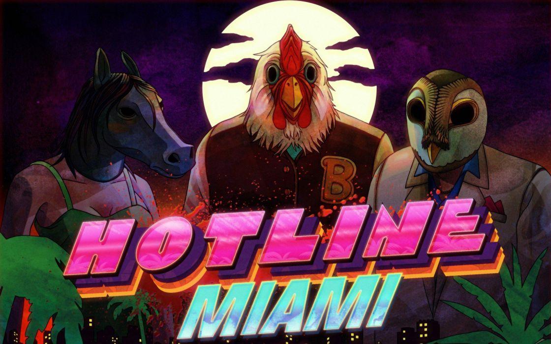 masks Hotline Miami wallpaper