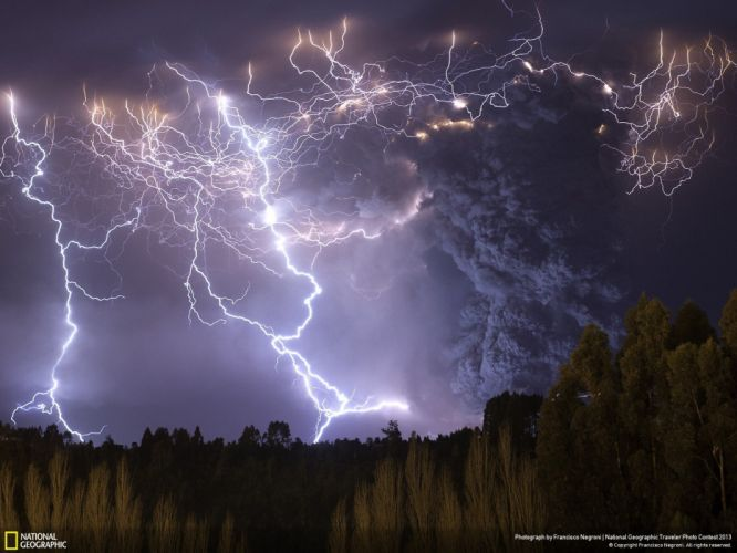 Chile landscapes nature smoke National Geographic lightning wallpaper