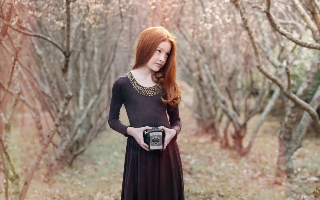 women nature vintage redheads photographers wallpaper