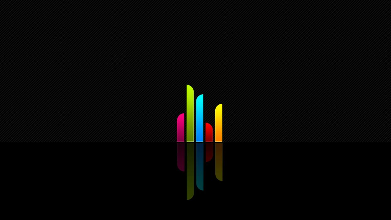 minimalistic multicolor rainbows wallpaper