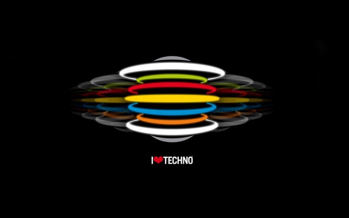abstract multicolor techno wallpaper