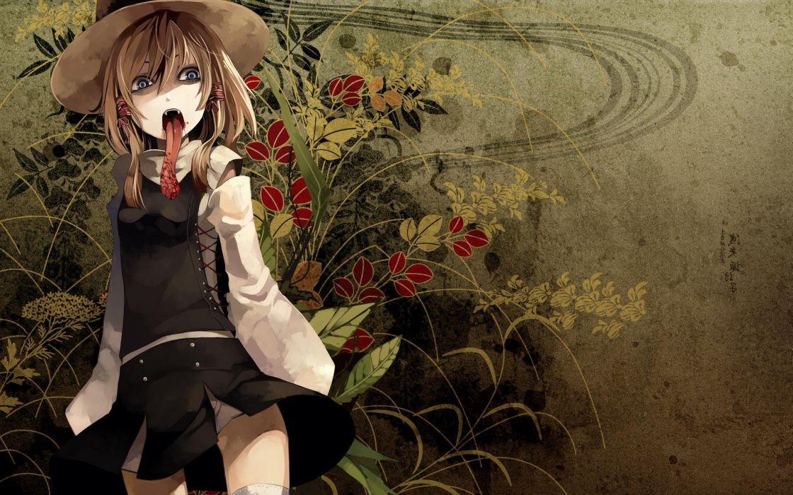 video games Touhou Moriya Suwako hats games wallpaper