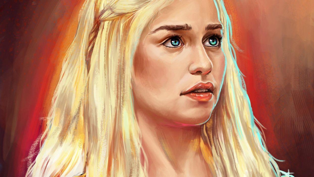 Game of Thrones Emilia Clarke Daenerys Targaryen Dothraki House Targaryen wallpaper