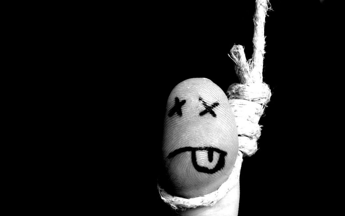 dead suicide fingers hanging wallpaper