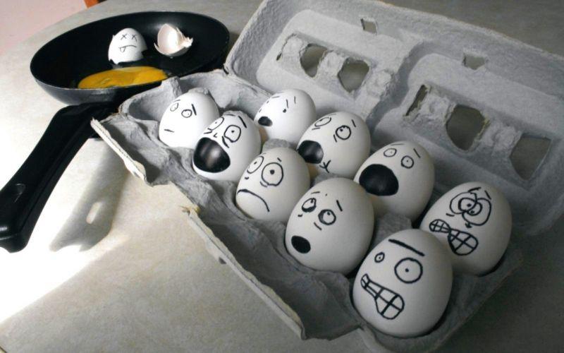 eggs funny terror faces F_E_A_R wallpaper