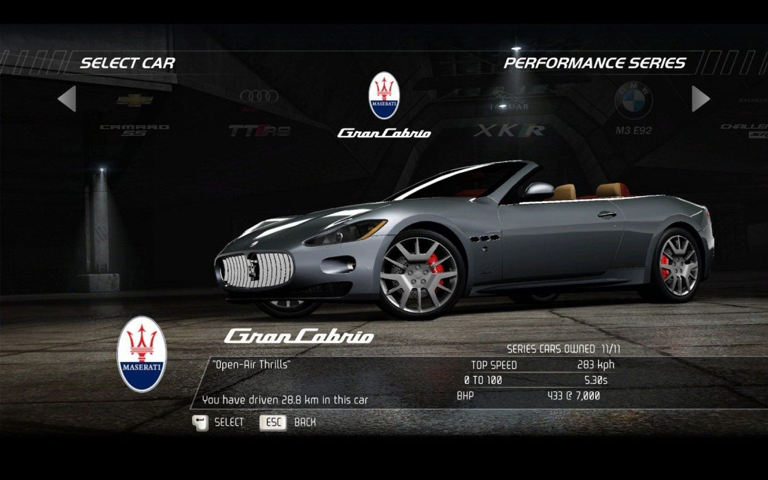 video games cars vehicles Need for Speed Hot Pursuit Maserati GranCabrio pc games wallpaper