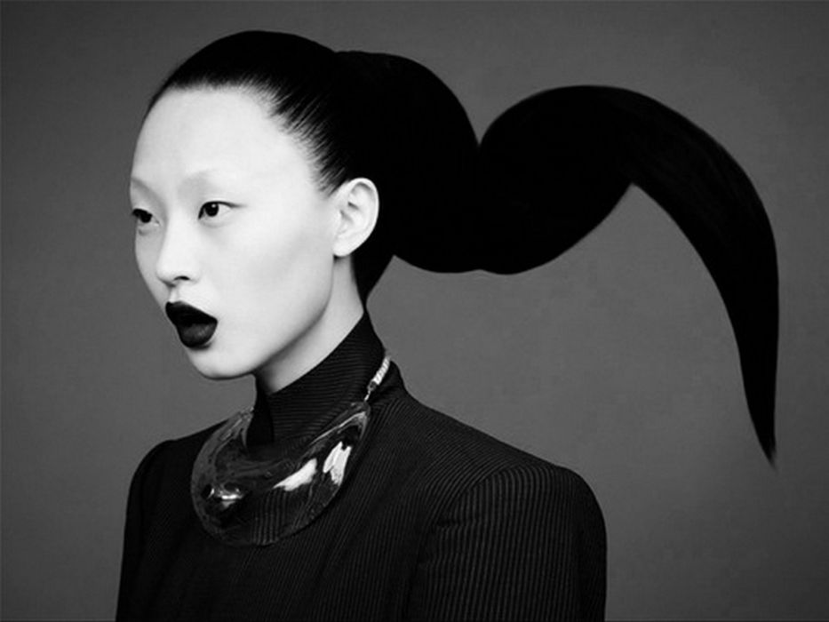 women models grayscale Asians  fashion photography portraits wallpaper