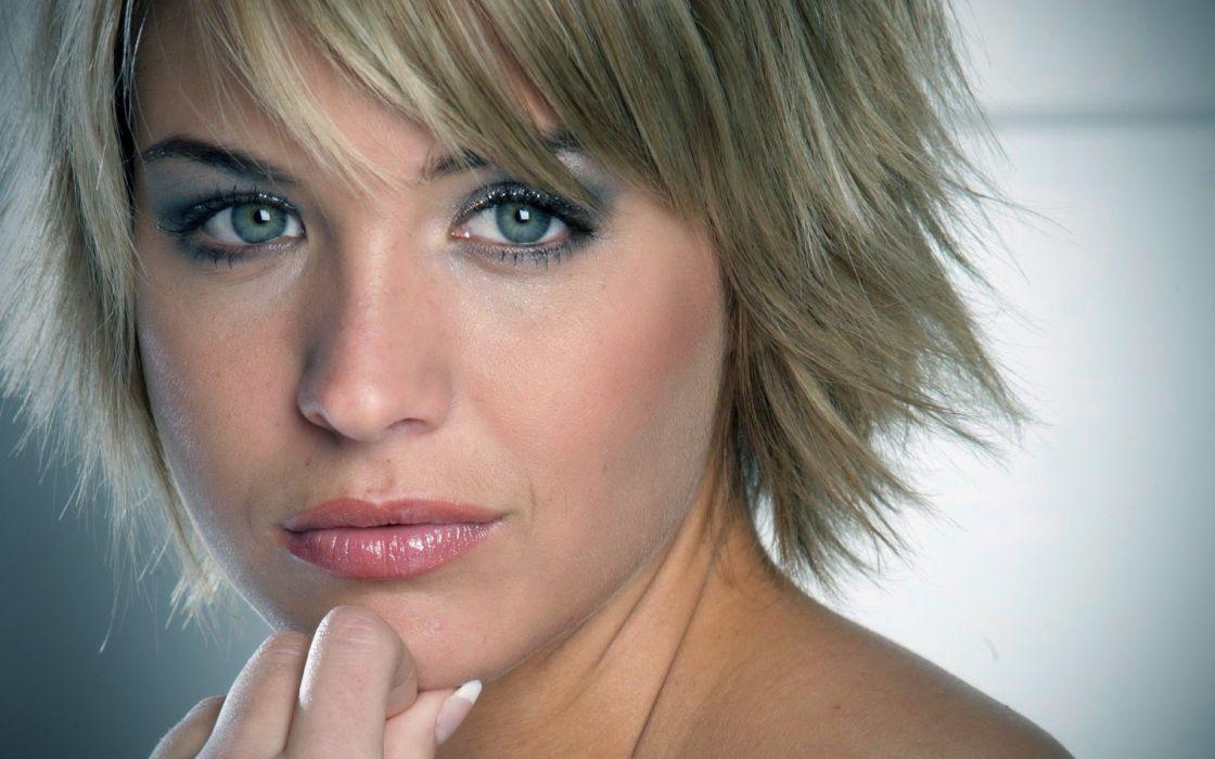 blondes women Gemma Atkinson celebrity faces wallpaper